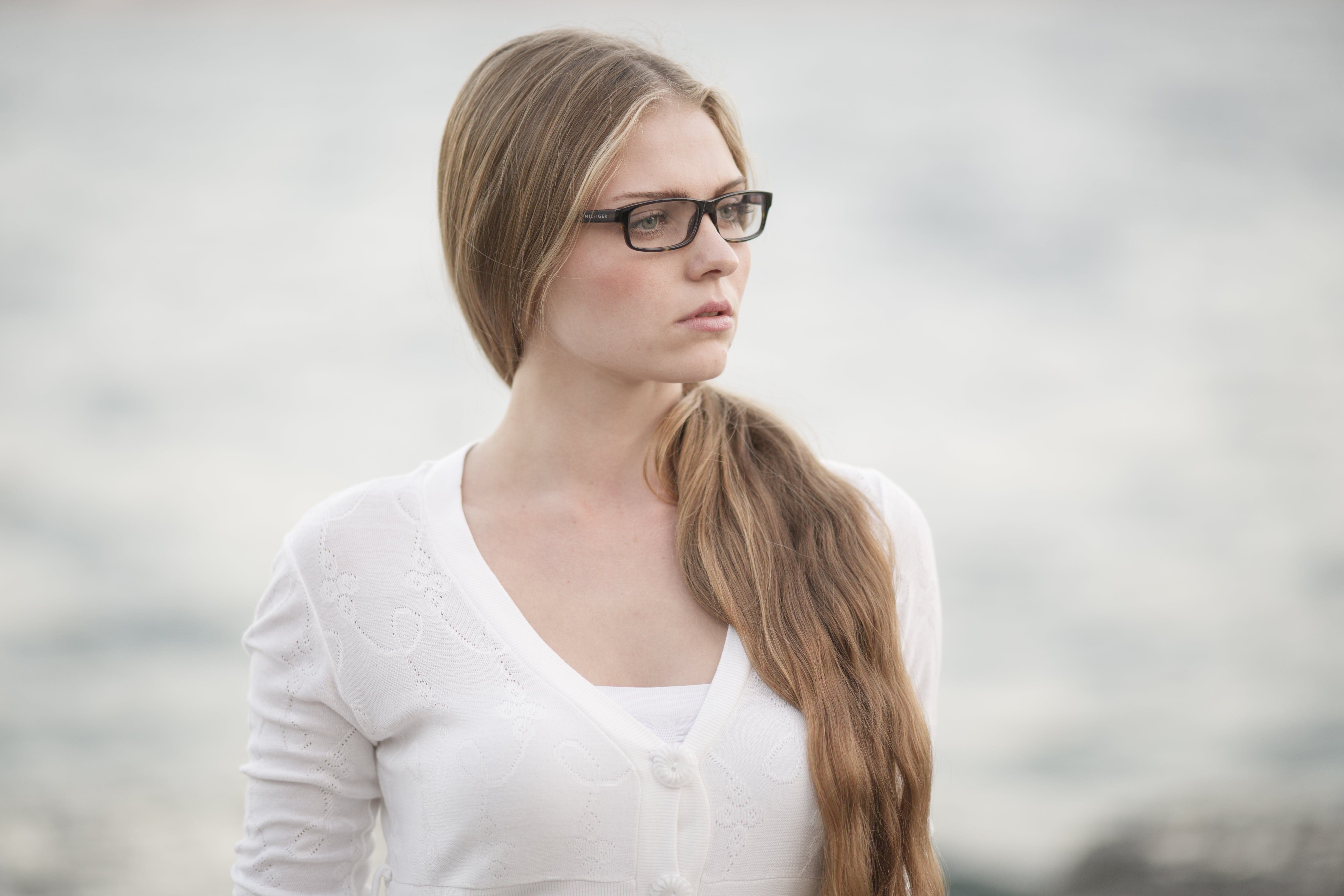 Woman Wearing Eyeglasses Standing