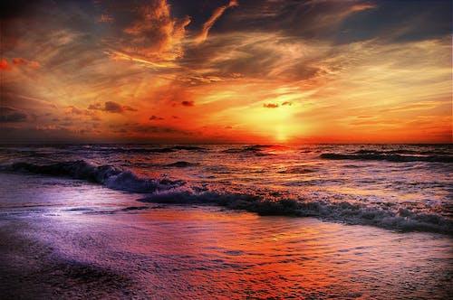 altın saat, barışçıl, bulutlar, cennet içeren Ücretsiz stok fotoğraf