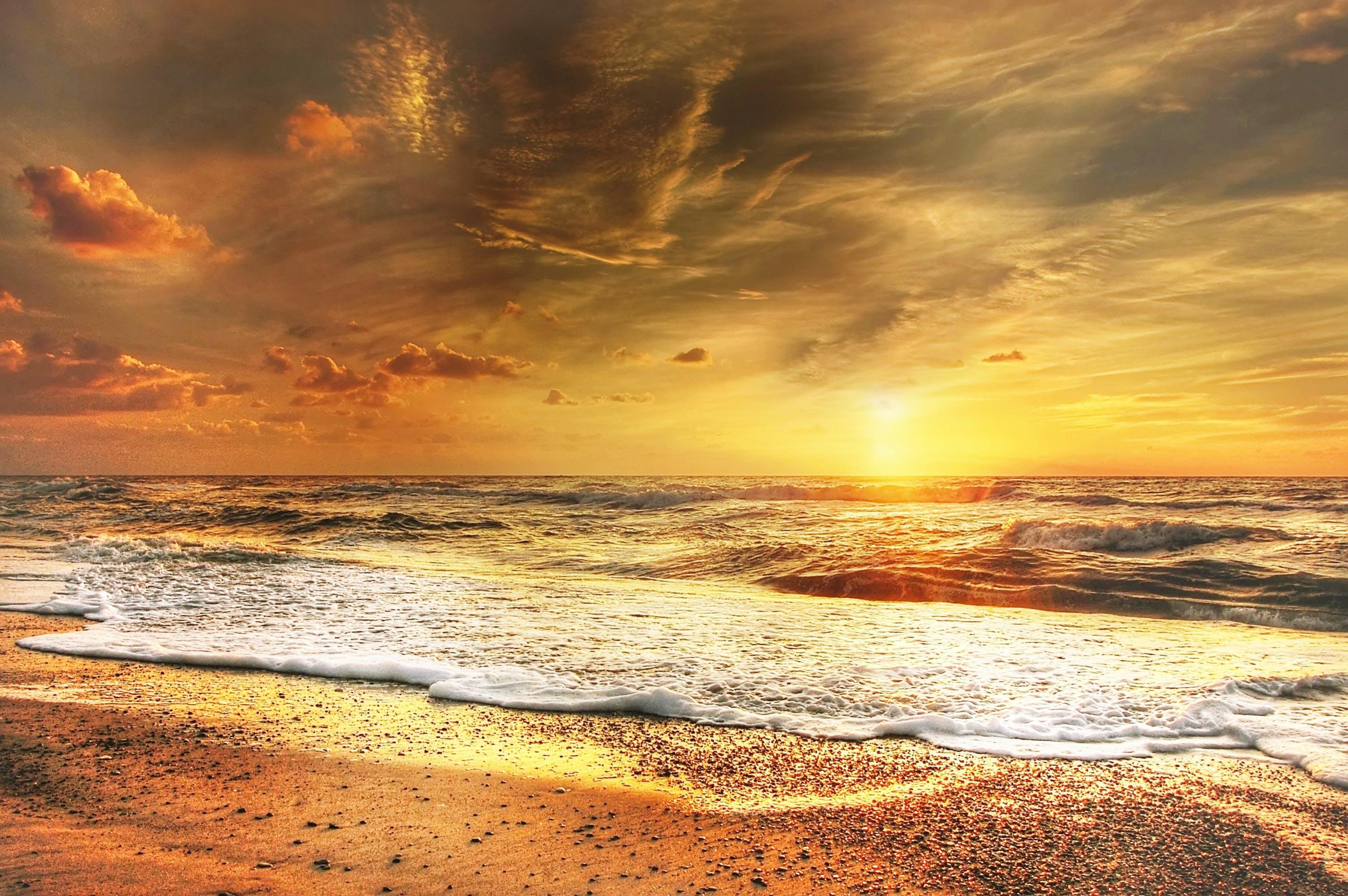 Photography of Crashing Sea Waves on Shore