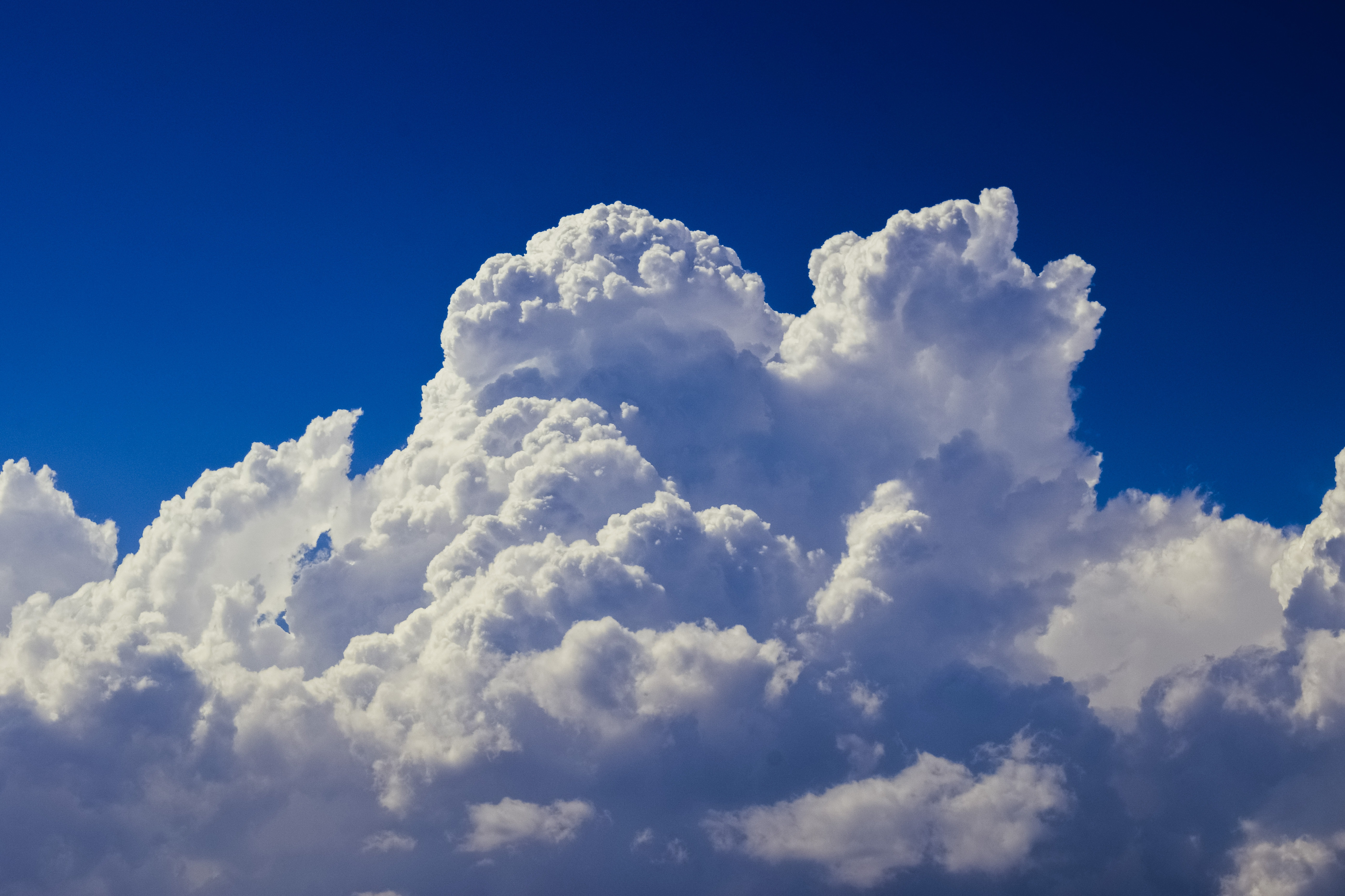 White Clouds Wallpaper Free Stock Photo