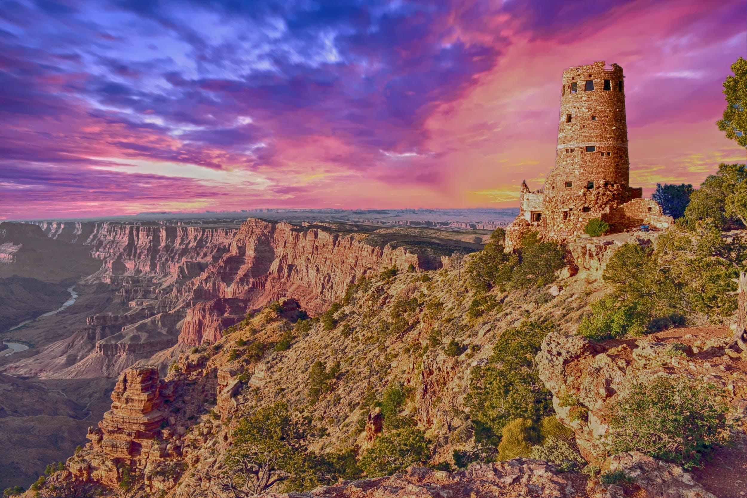 Kostenloses Stock Foto zu arizona, canyon, dämmerung, dürr
