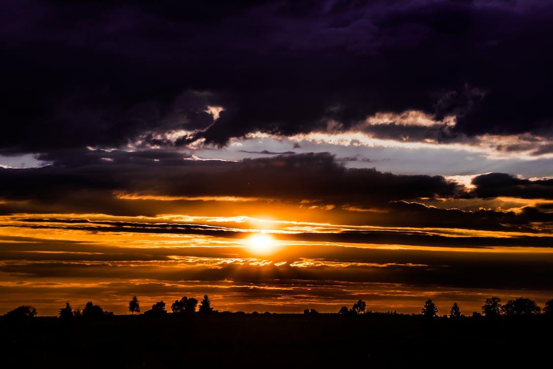 восход, живописный, закат