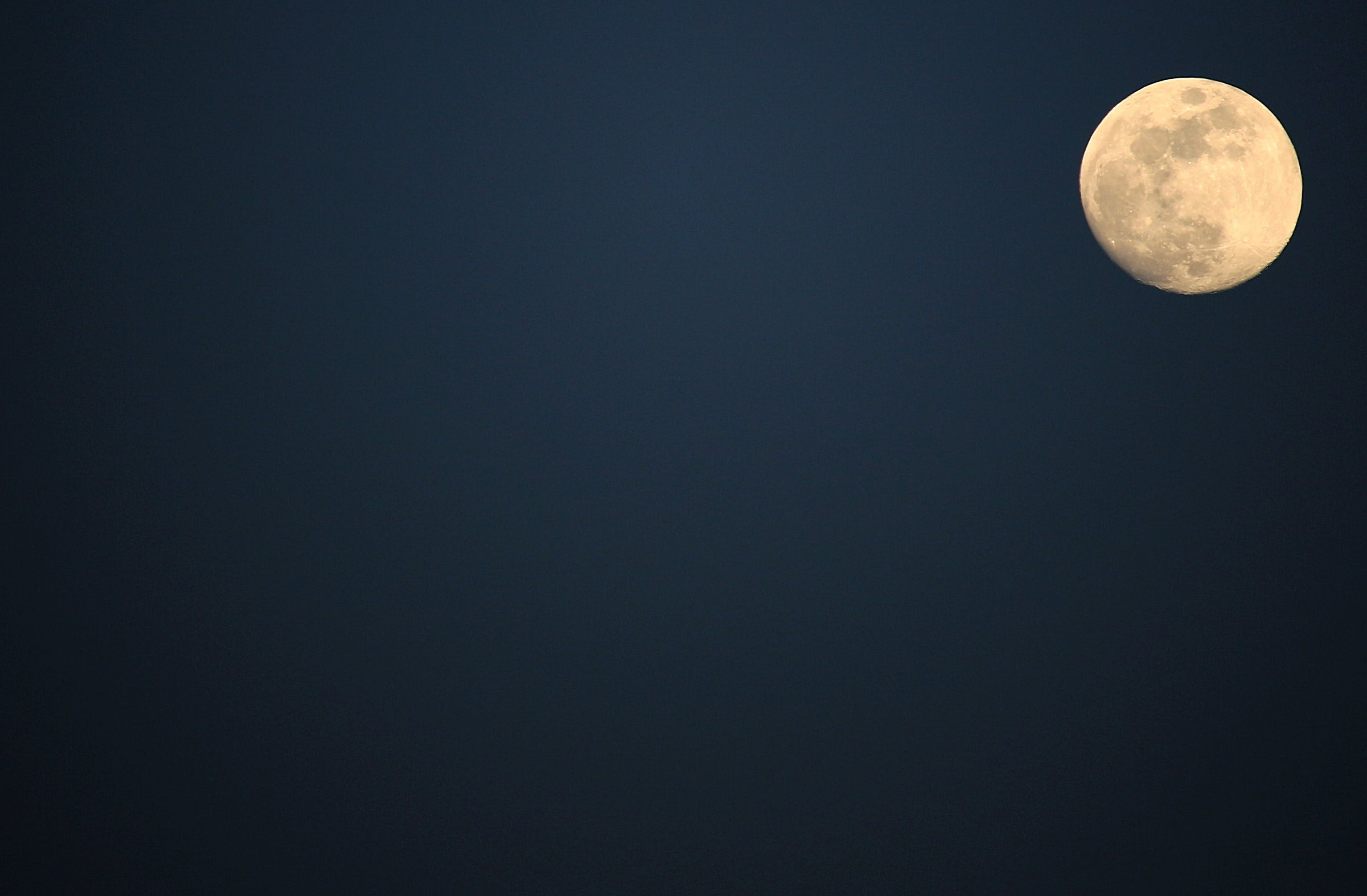 Free stock photo of nature, night, space, moon