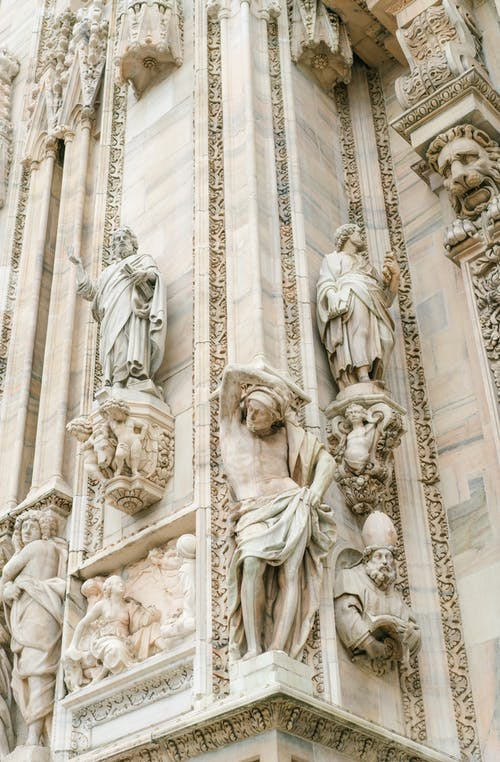 Ornamental sculpture of Milan Cathedral