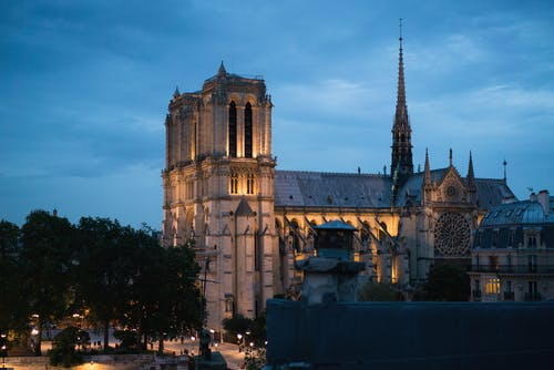 Notre Dame on warm summer evening