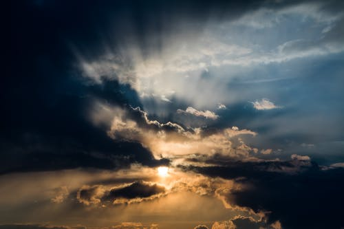 Photos gratuites de ciel, coucher de soleil, coucher du soleil, formation de nuages