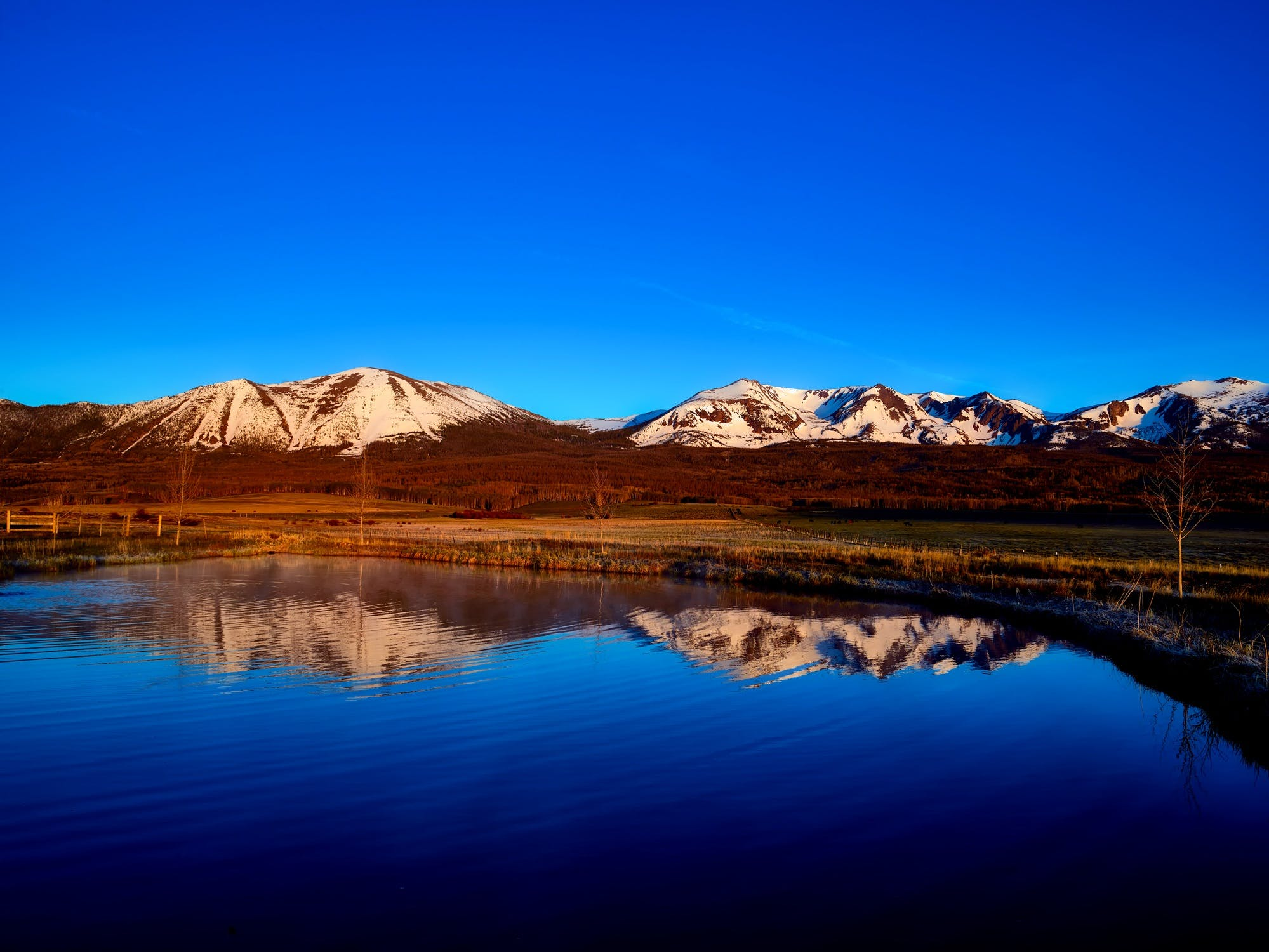 Landsdcape Photography of Brown and White Mountain