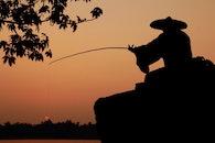 fishing, light, dawn