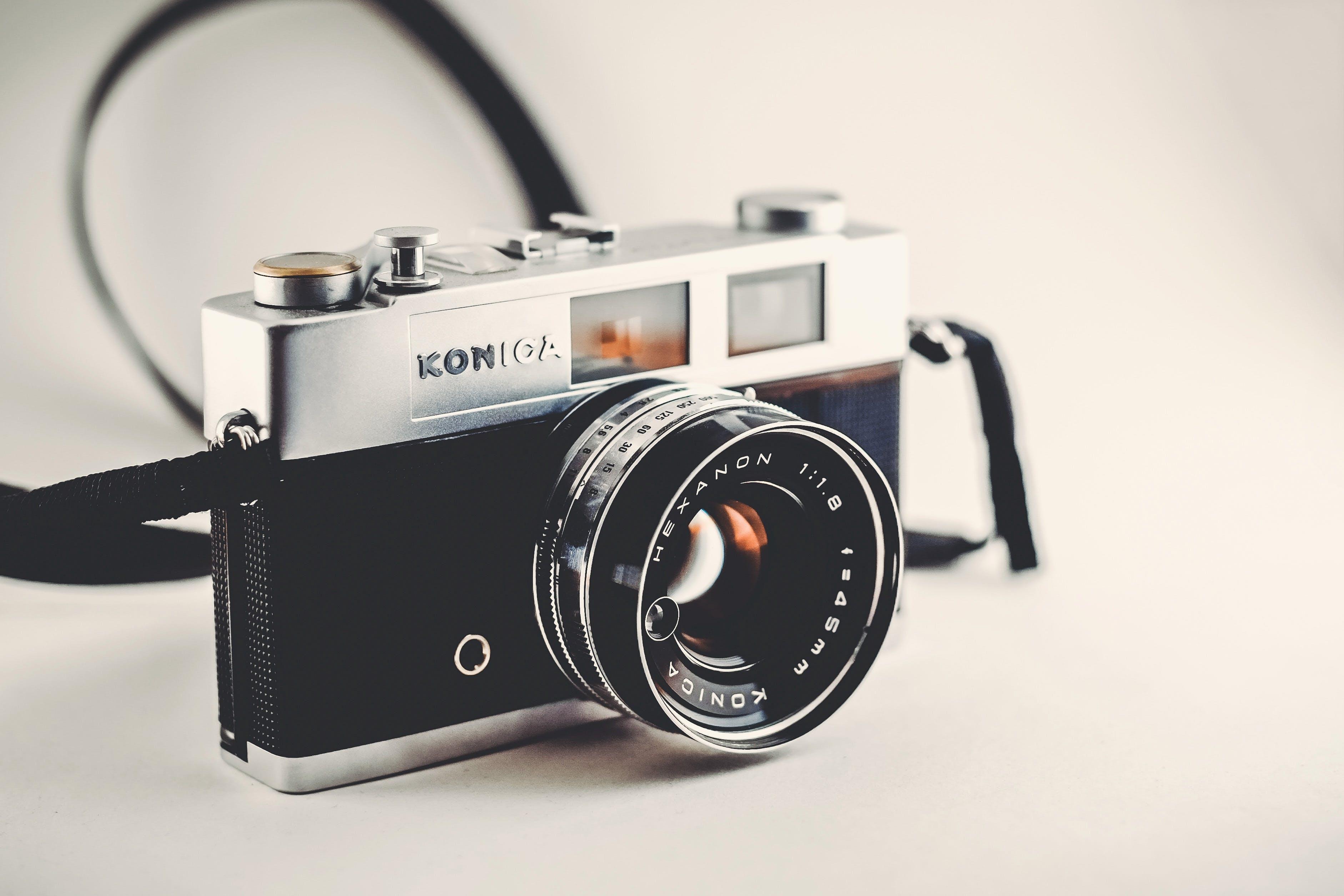Gray and Black Disposable Camera