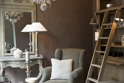Free Stock Photo Of House Lamp Ladder Home