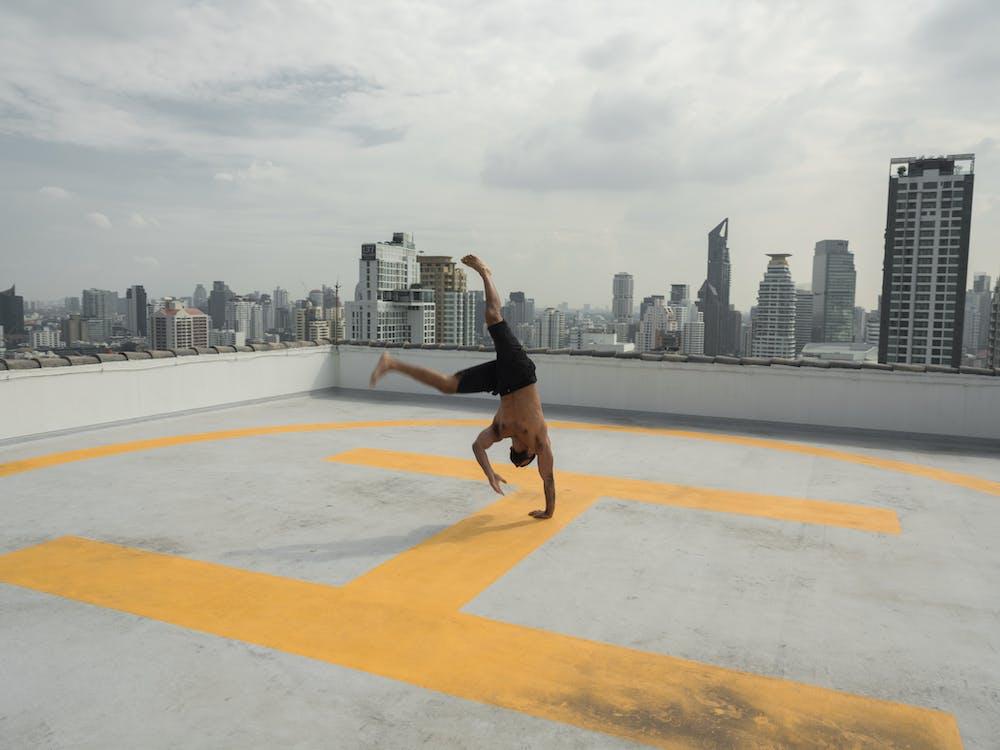 Photo of Man Doing Cartwheel