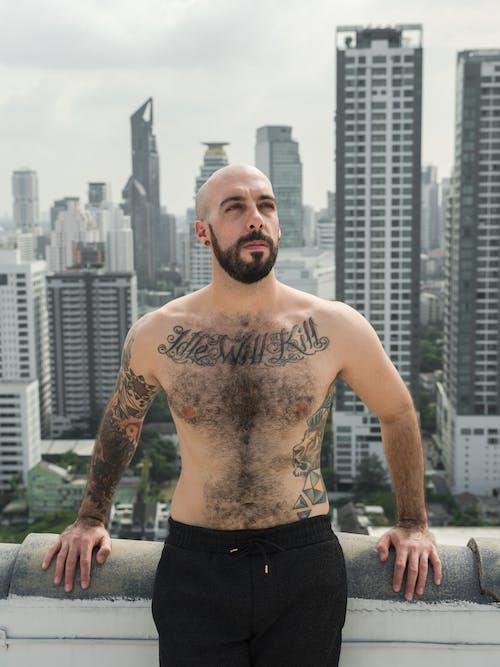 健康, 傢伙, 刺青 的 免費圖庫相片