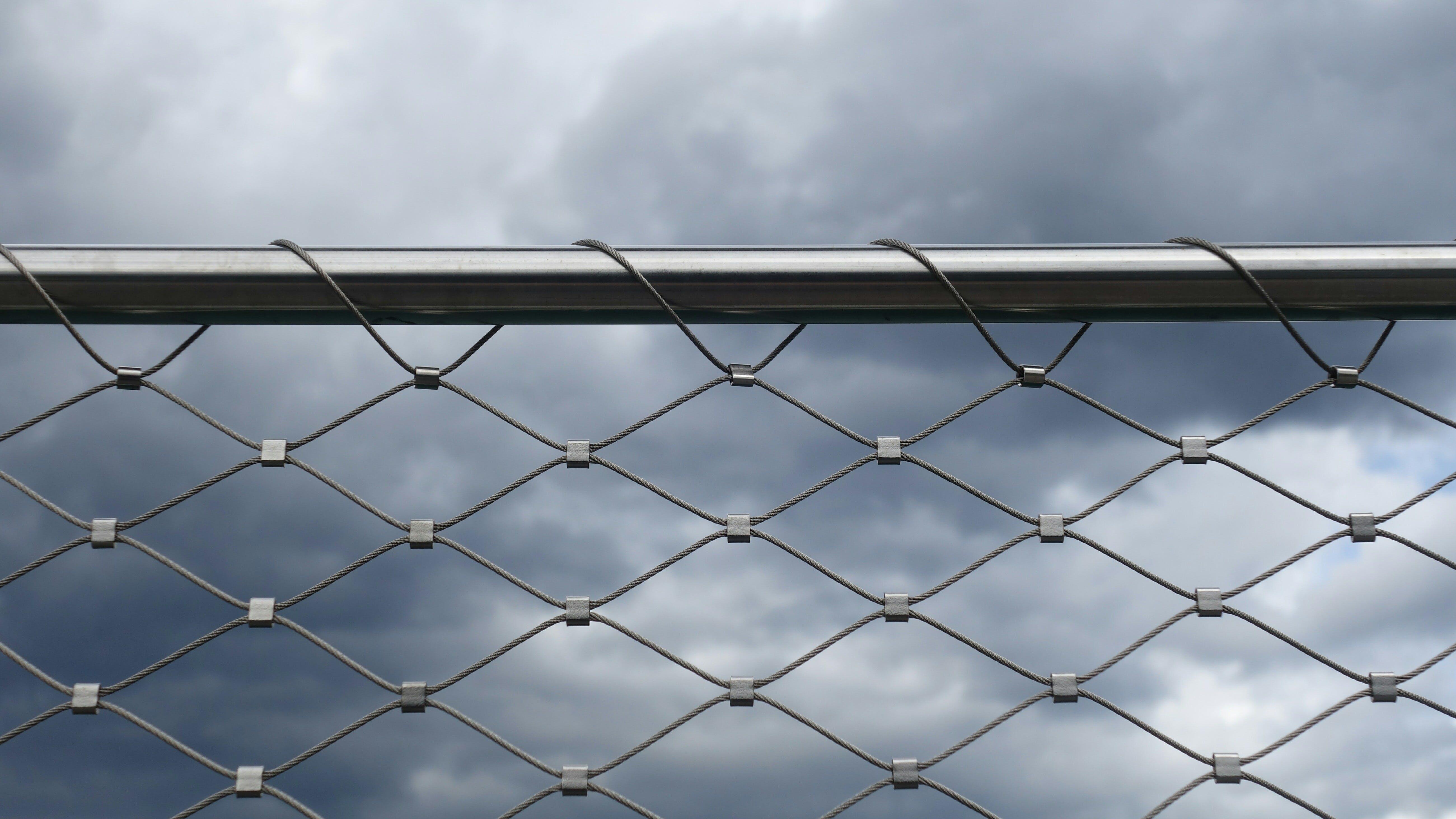 Gray Mesh Fence