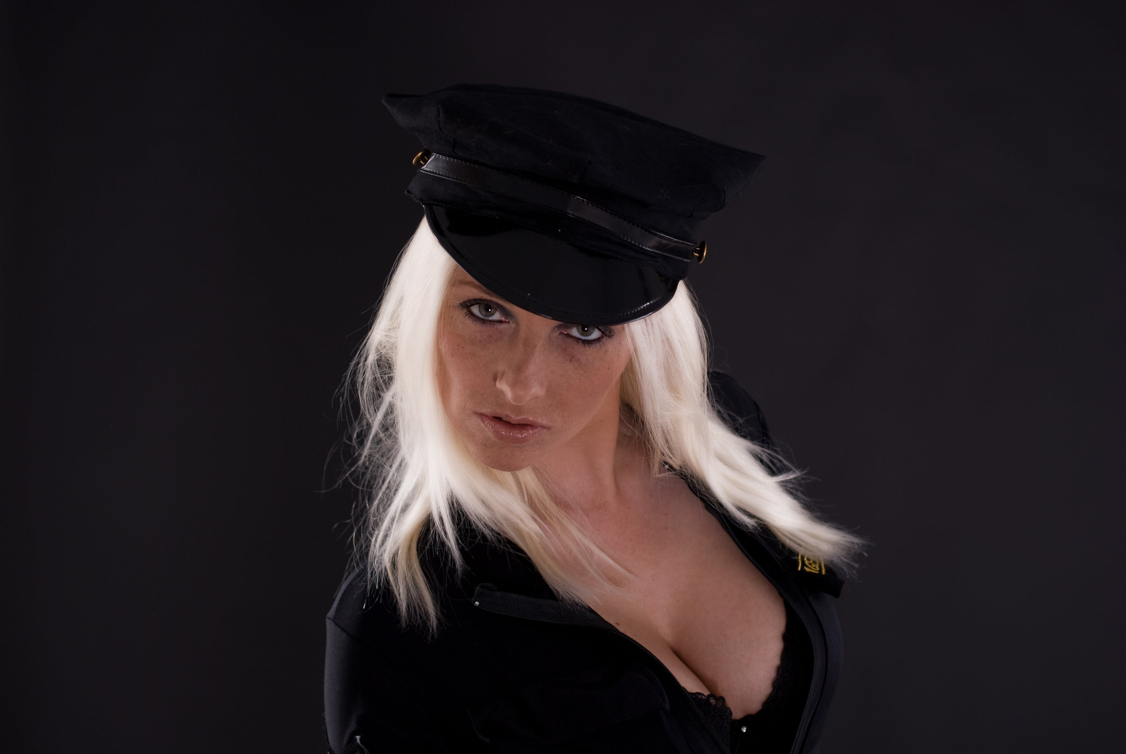 Free stock photo of woman, girl, police, face