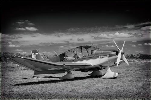 Imagine de stoc gratuită din aeronavă, aeroport, alb-negru, aviaţie