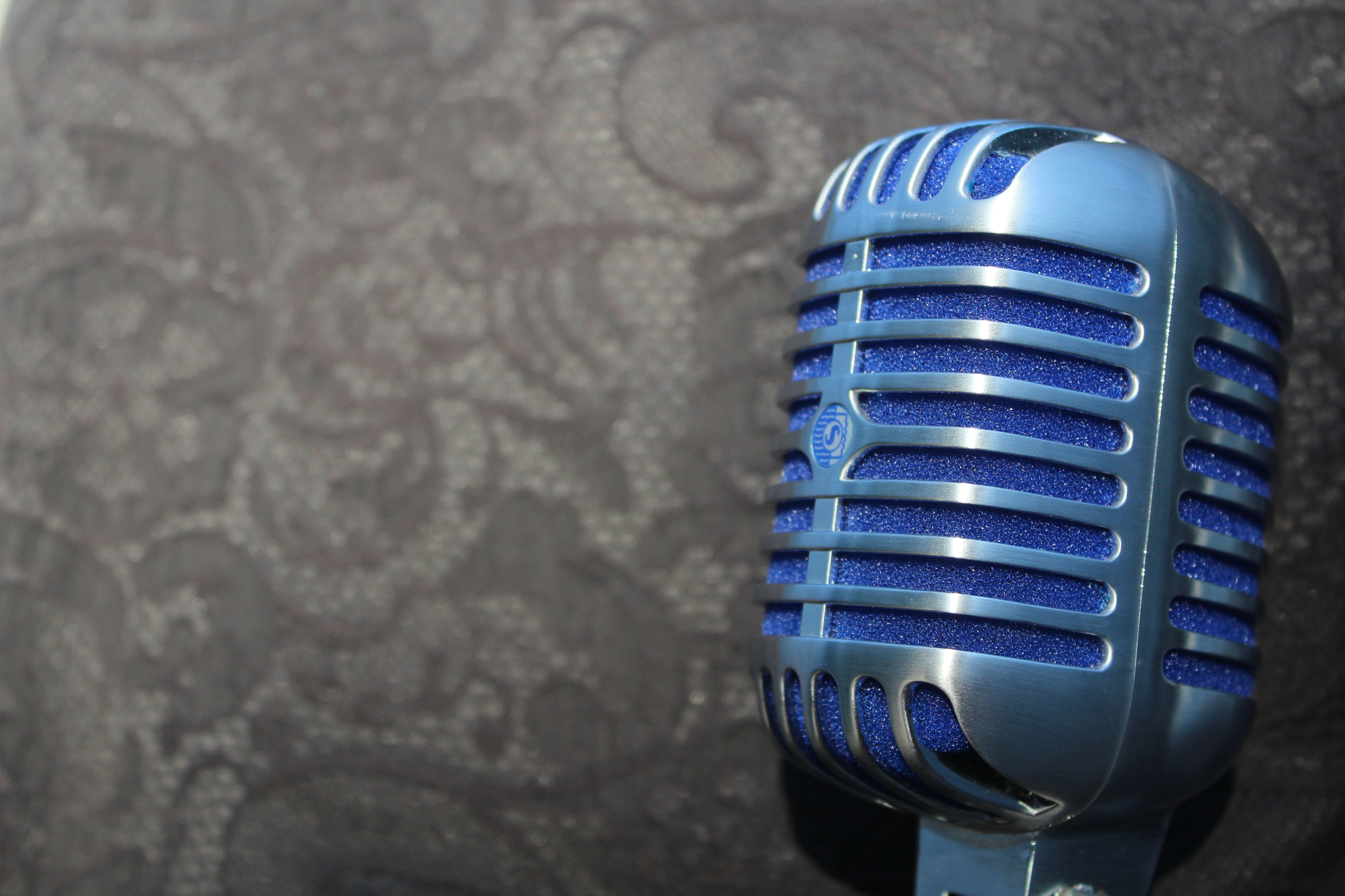 Closeup Photography of Gray Condenser Microphone