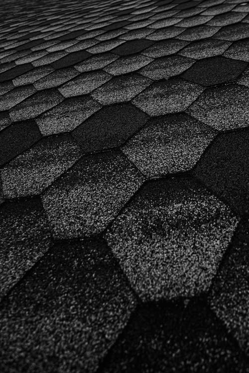 Path made of black hexagons