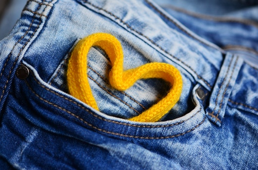 Free stock photo of heart, jeans, pants, clothing