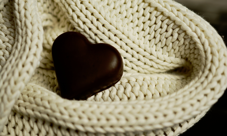 Black Heart Decor on White Surface