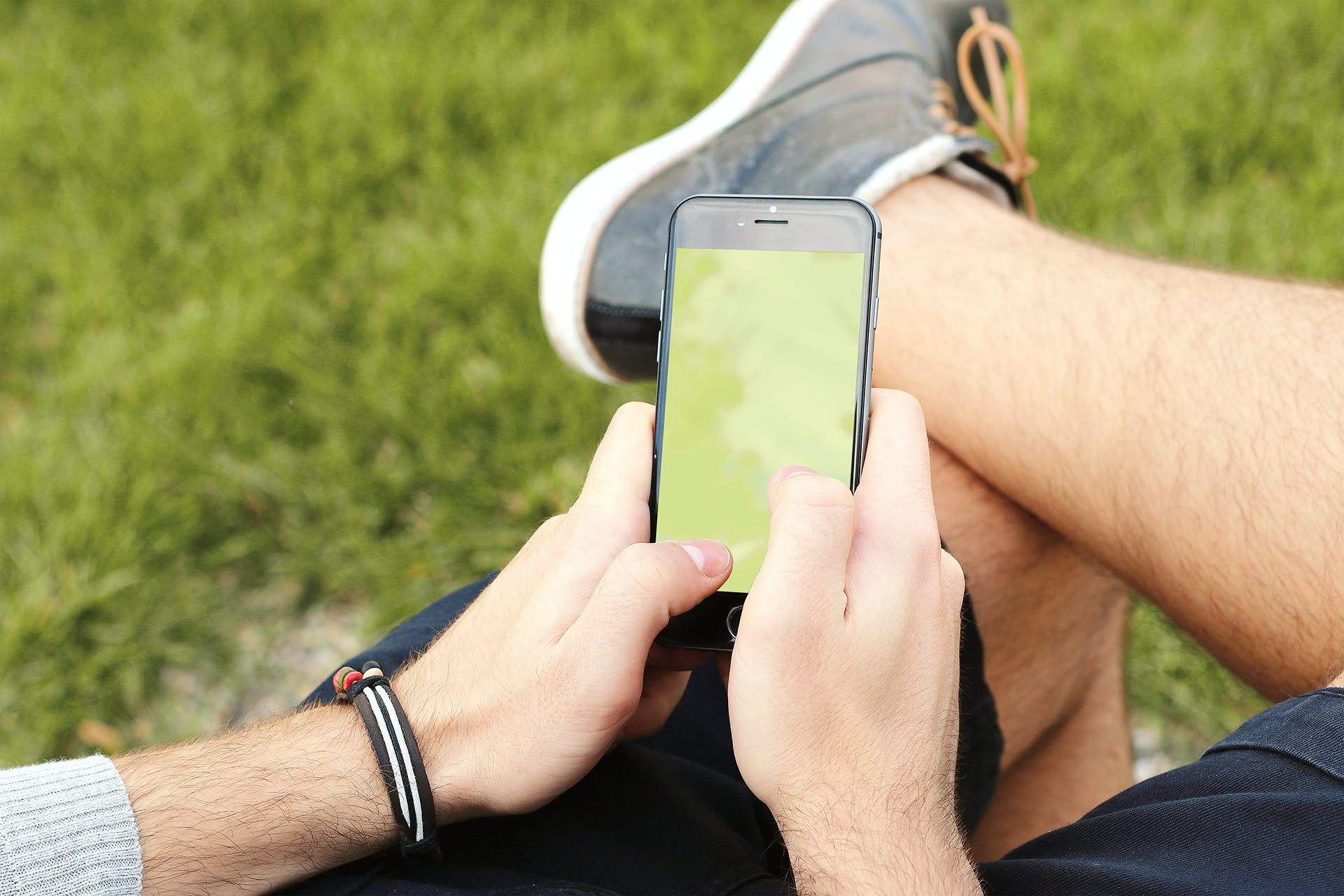 Person Holding Black Android Smartphone Outdoors