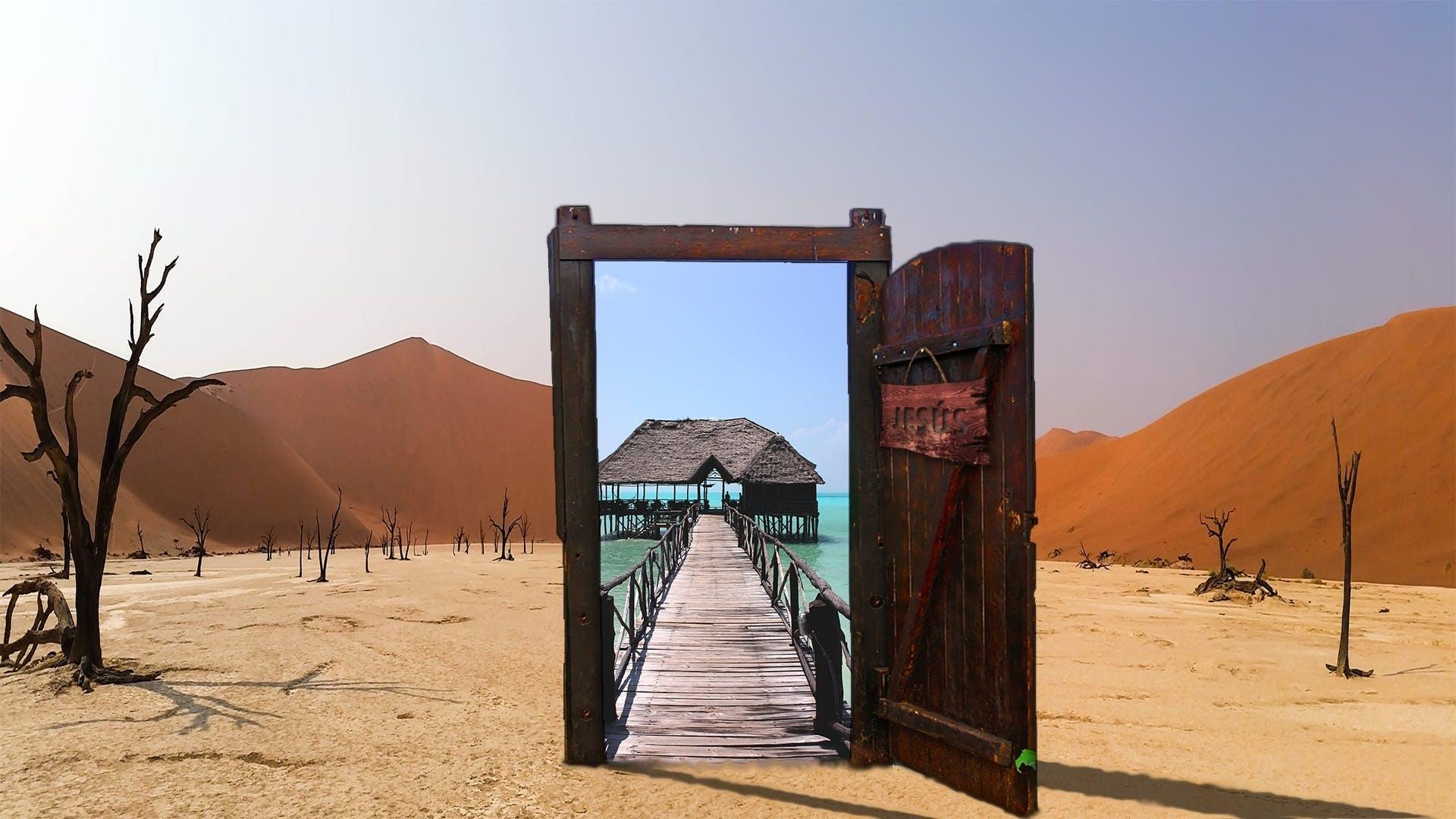 Free stock photo of beach, blue, desert, door