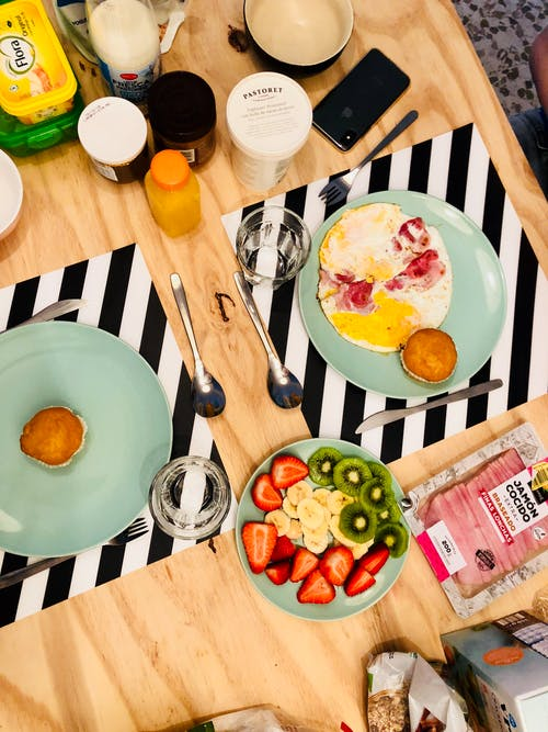 Free stock photo of at table, breakfast, breakfast table, food