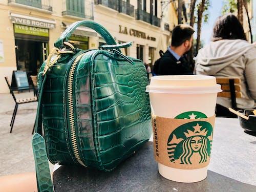 Free stock photo of black coffee, city life, green, starbucks