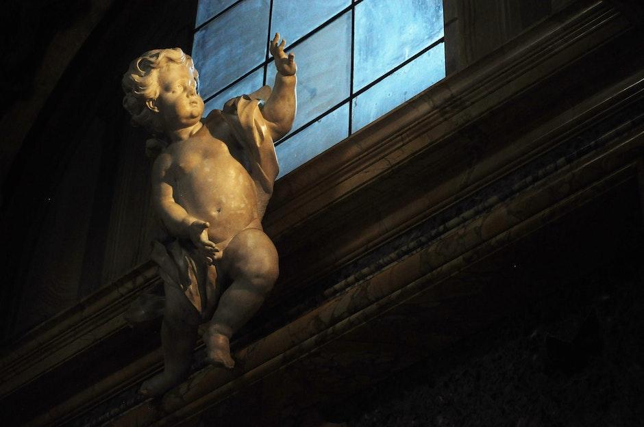 amor, church, cupid