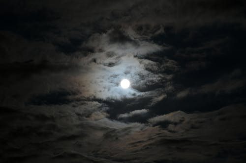 Free stock photo of backlight, clouds, cloudy sky, full moon