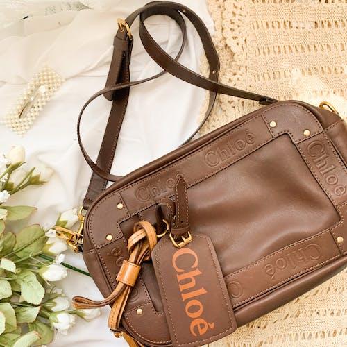 A  Brown Leather Shoulder Bag