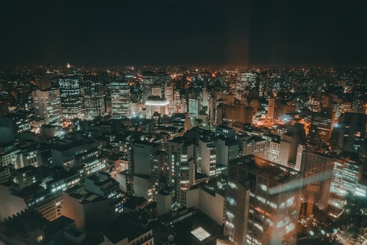 Free stock photo of city, sky, night, buildings