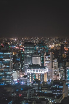 Free stock photo of city, sky, lights, night