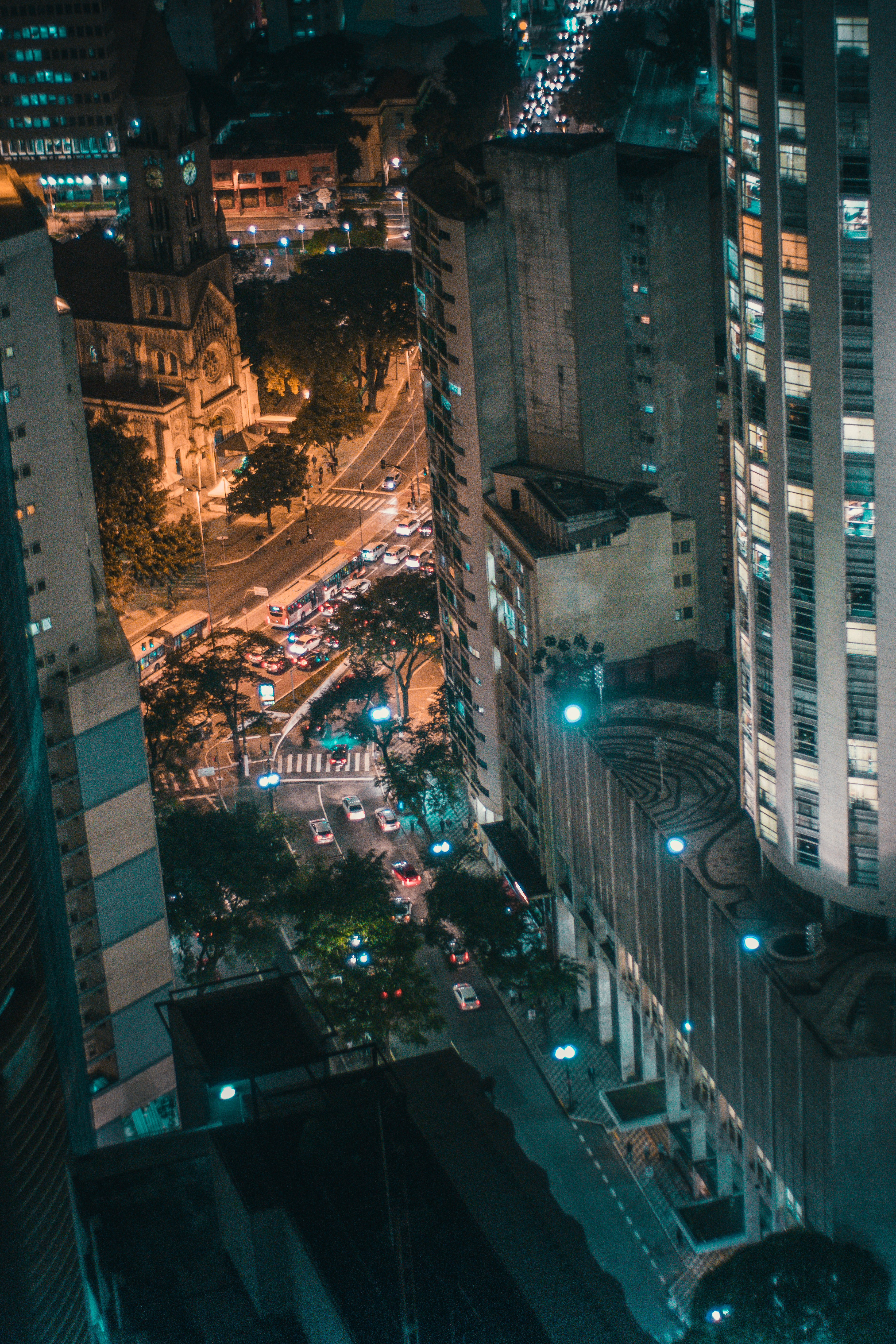 Free stock photo of city, cars, road, lights