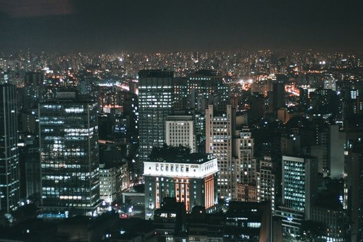 Free stock photo of light, city, night, skyline