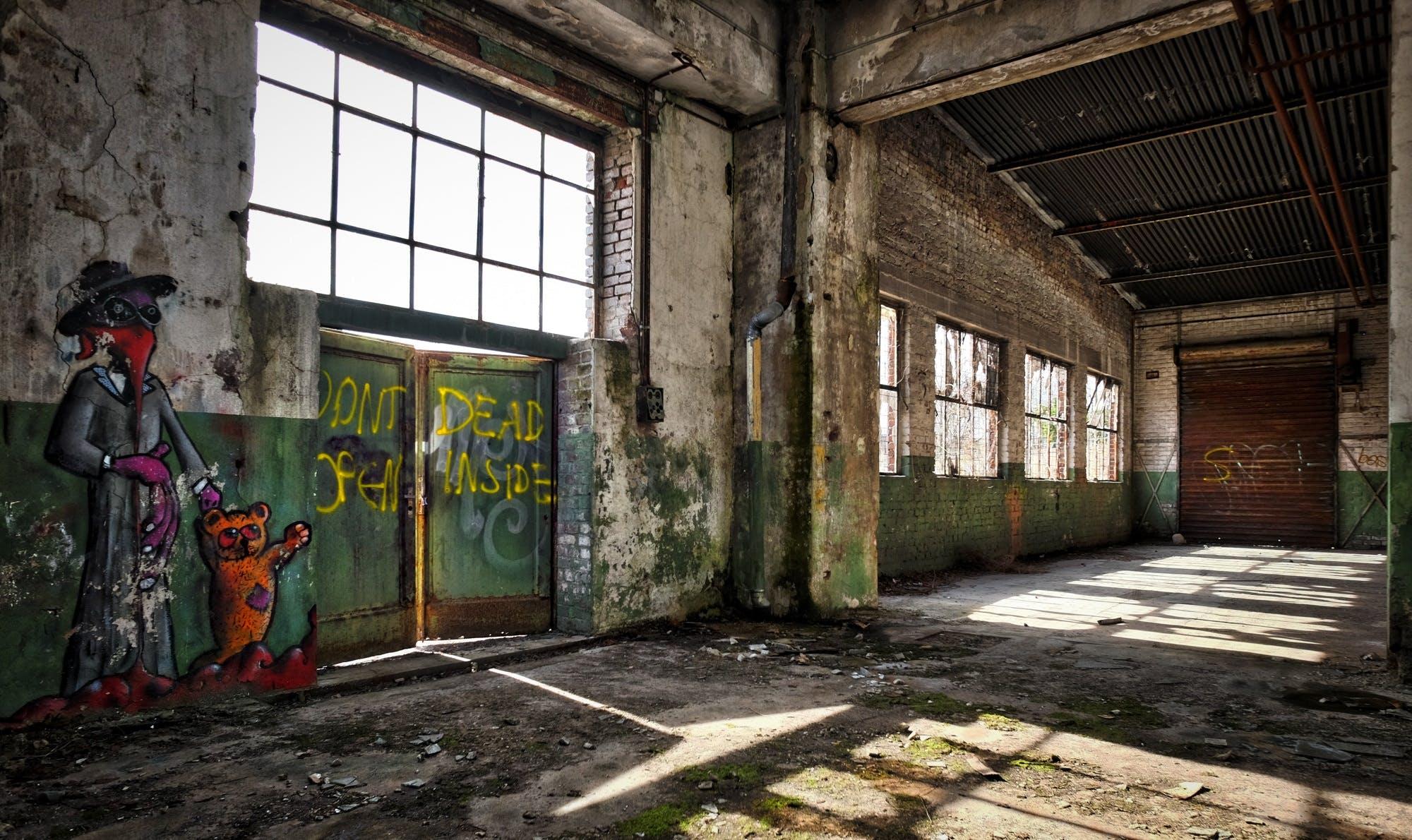 Free stock photo of graffiti, building, industry, broken