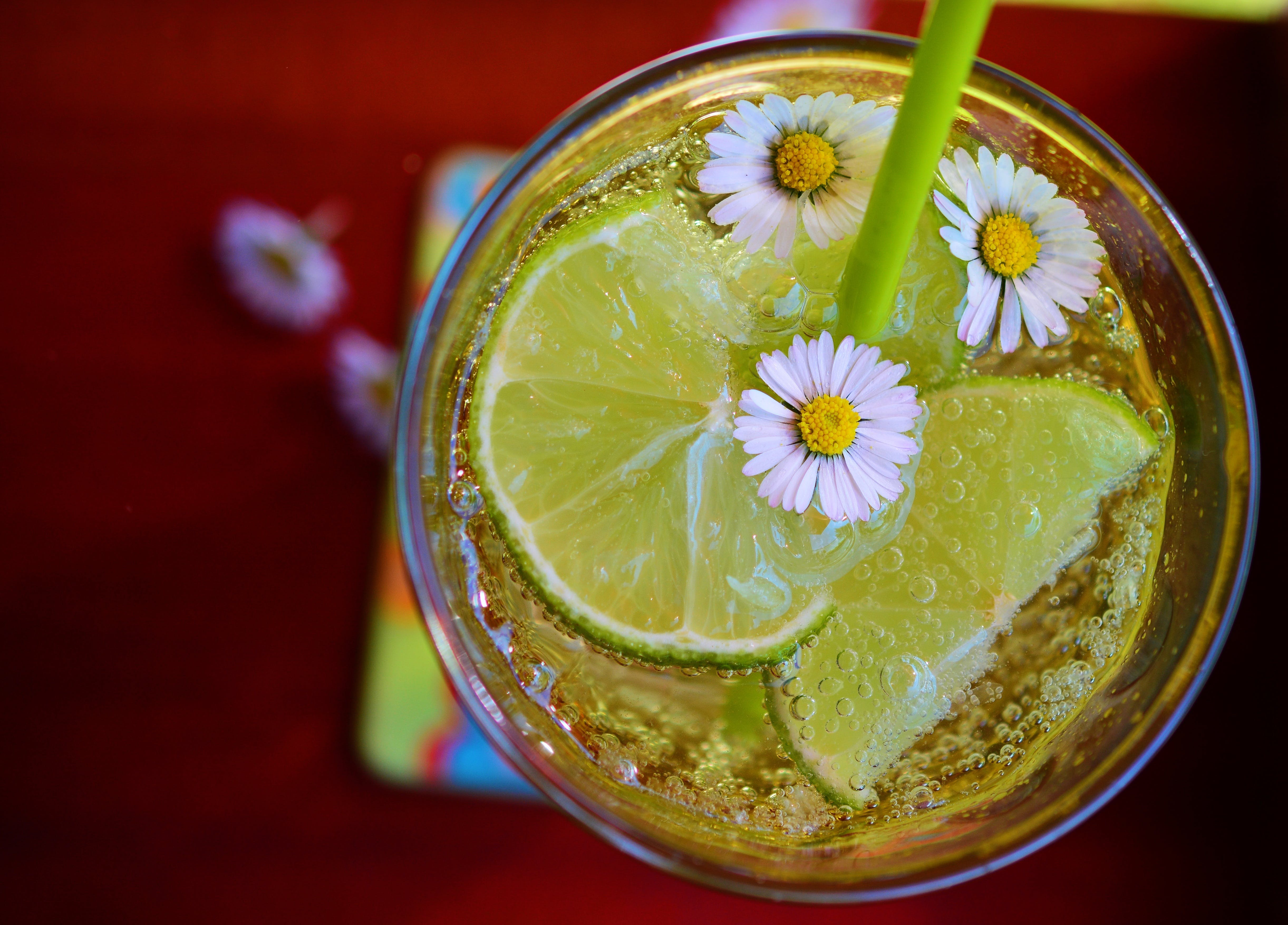 Flat Lay Photography of Lime Drink