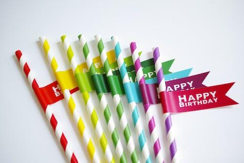 Бесплатное стоковое фото с бумажные соломинки, дизайн, красочный, радуга
