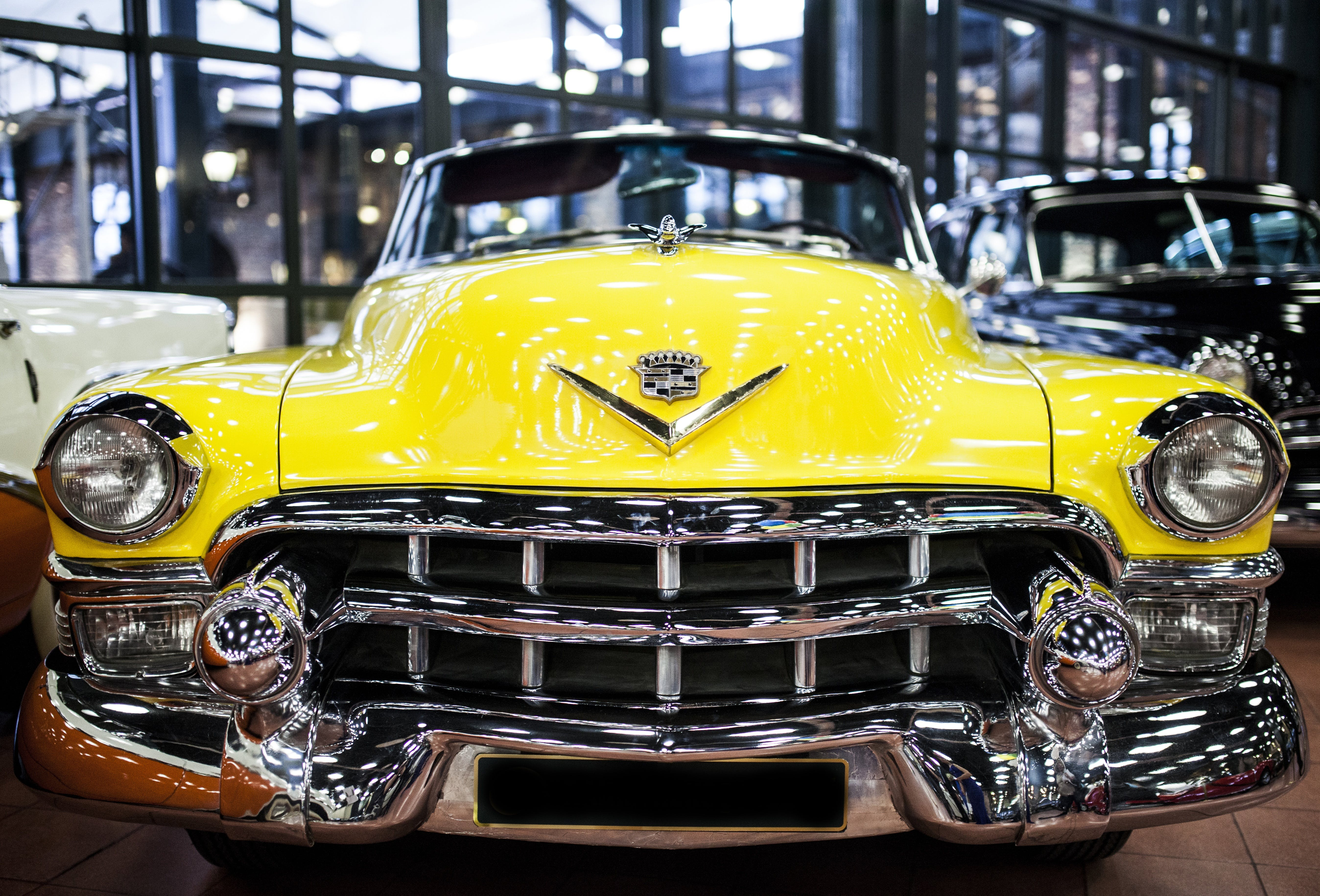 Yellow Cadillac Car