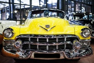 gelb, auto, fahrzeug