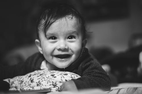 Free stock photo of baby, bed, eyes, happy