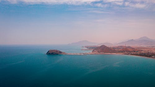 太陽, 山, 岩石, 島 的 免费素材照片