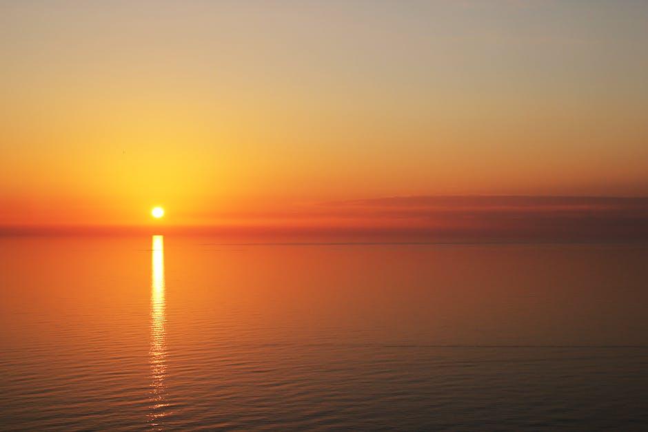 Backlit beach beautiful dawn