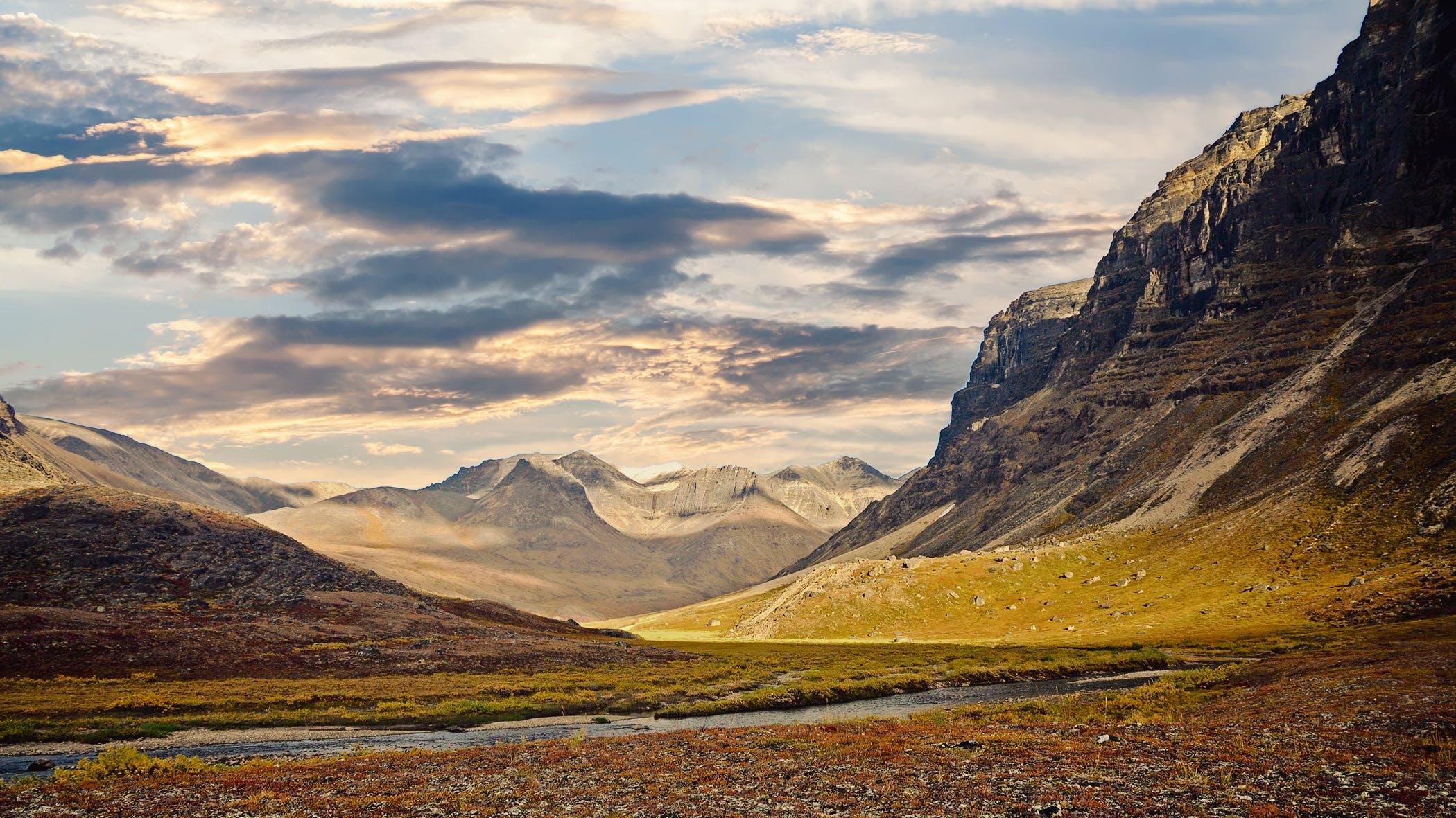 landscape, mountain, mountain range