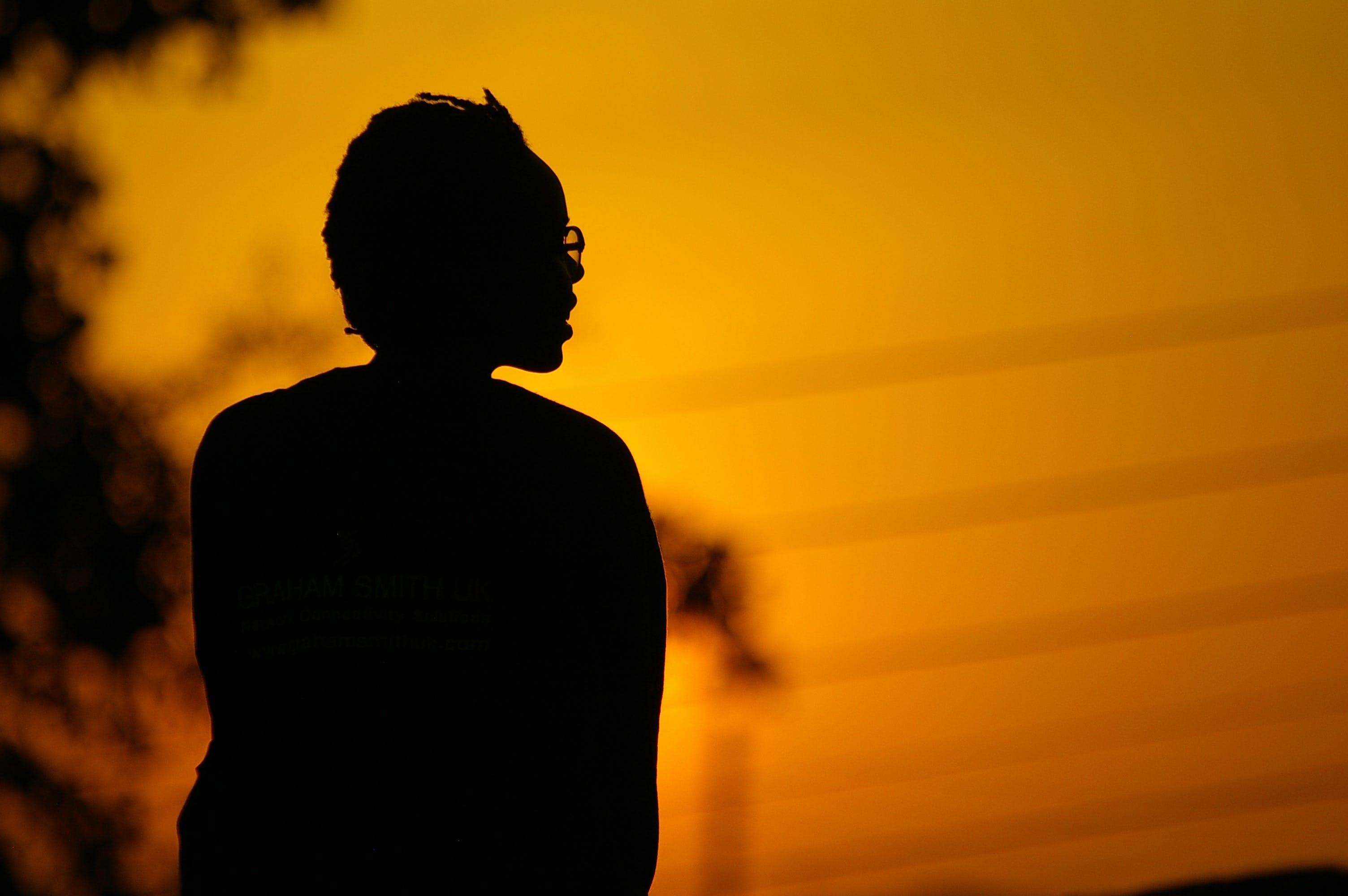 adult, africa, backlit