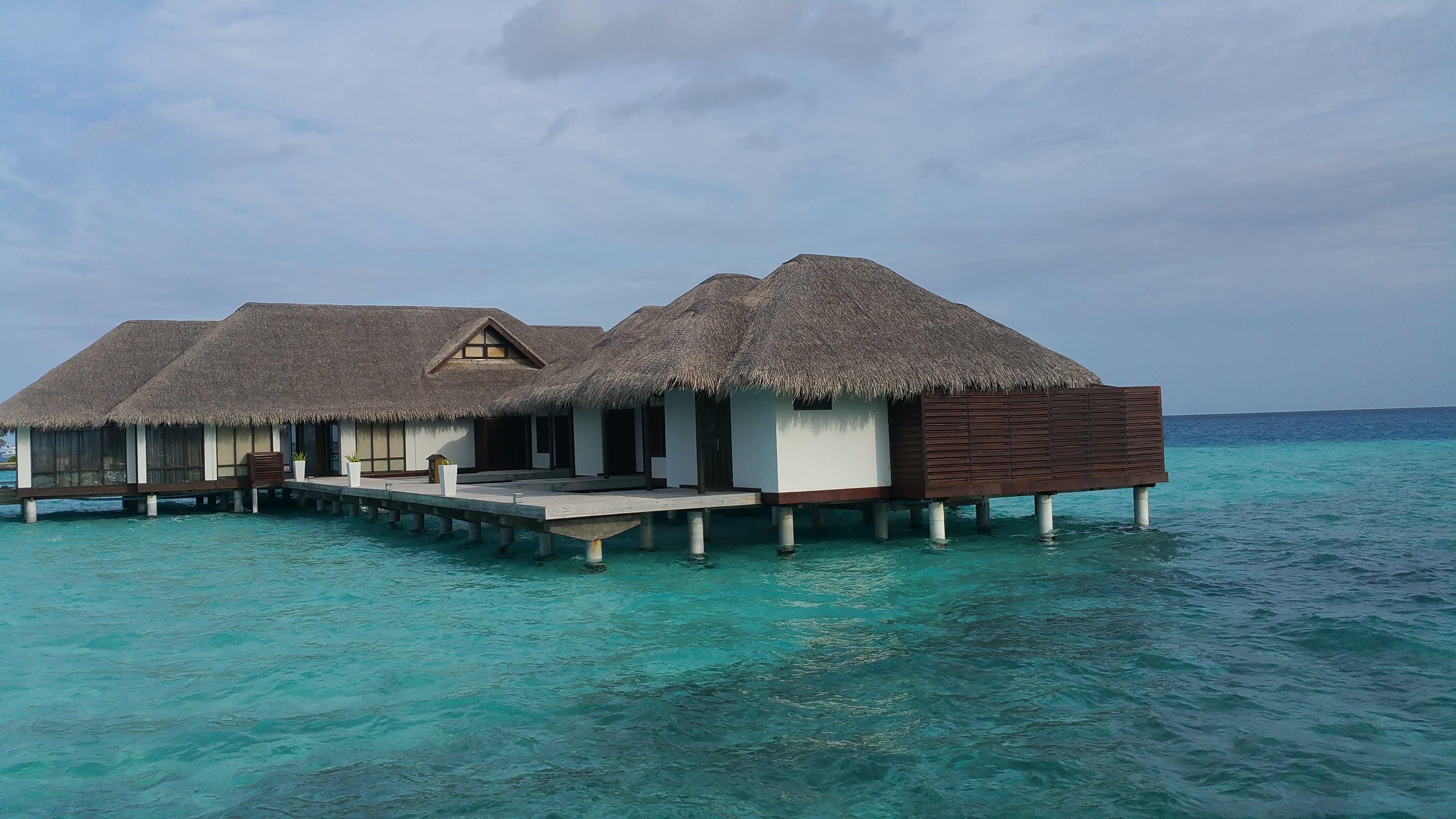 Free stock photo of beach, blue, cabana, coast