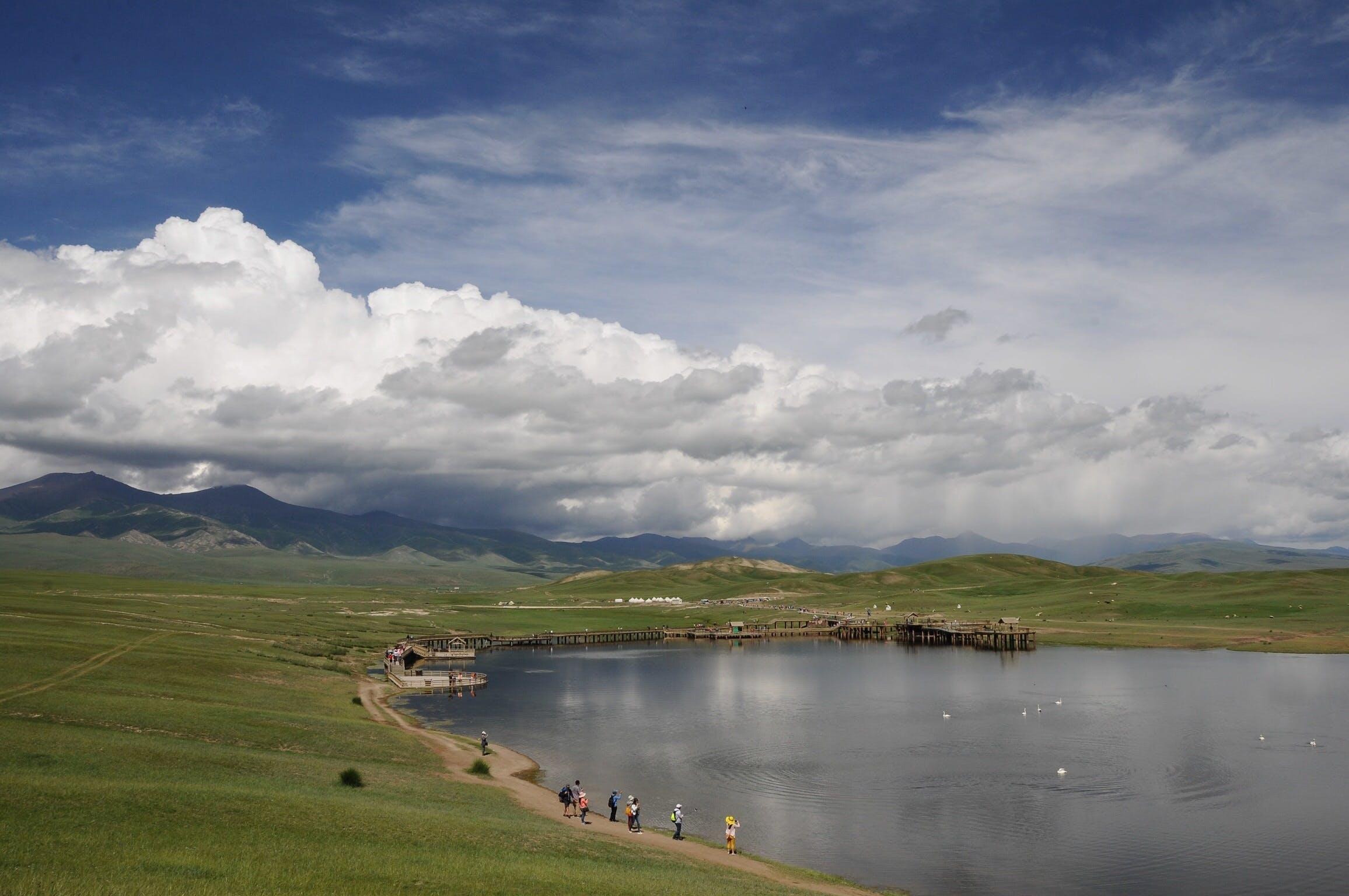 Free stock photo of tourism, in xinjiang, swan lake