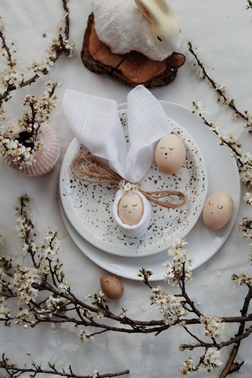 White Ceramic Plate With Sliced of Bread and Egg