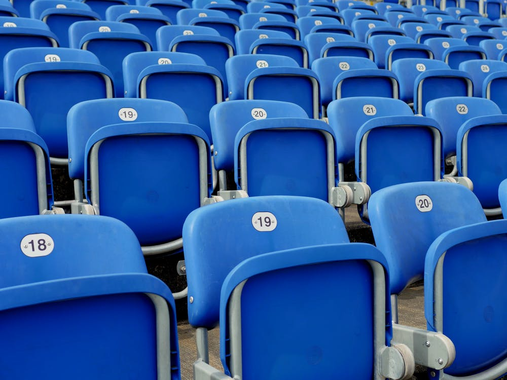 Blue Arena Chairs