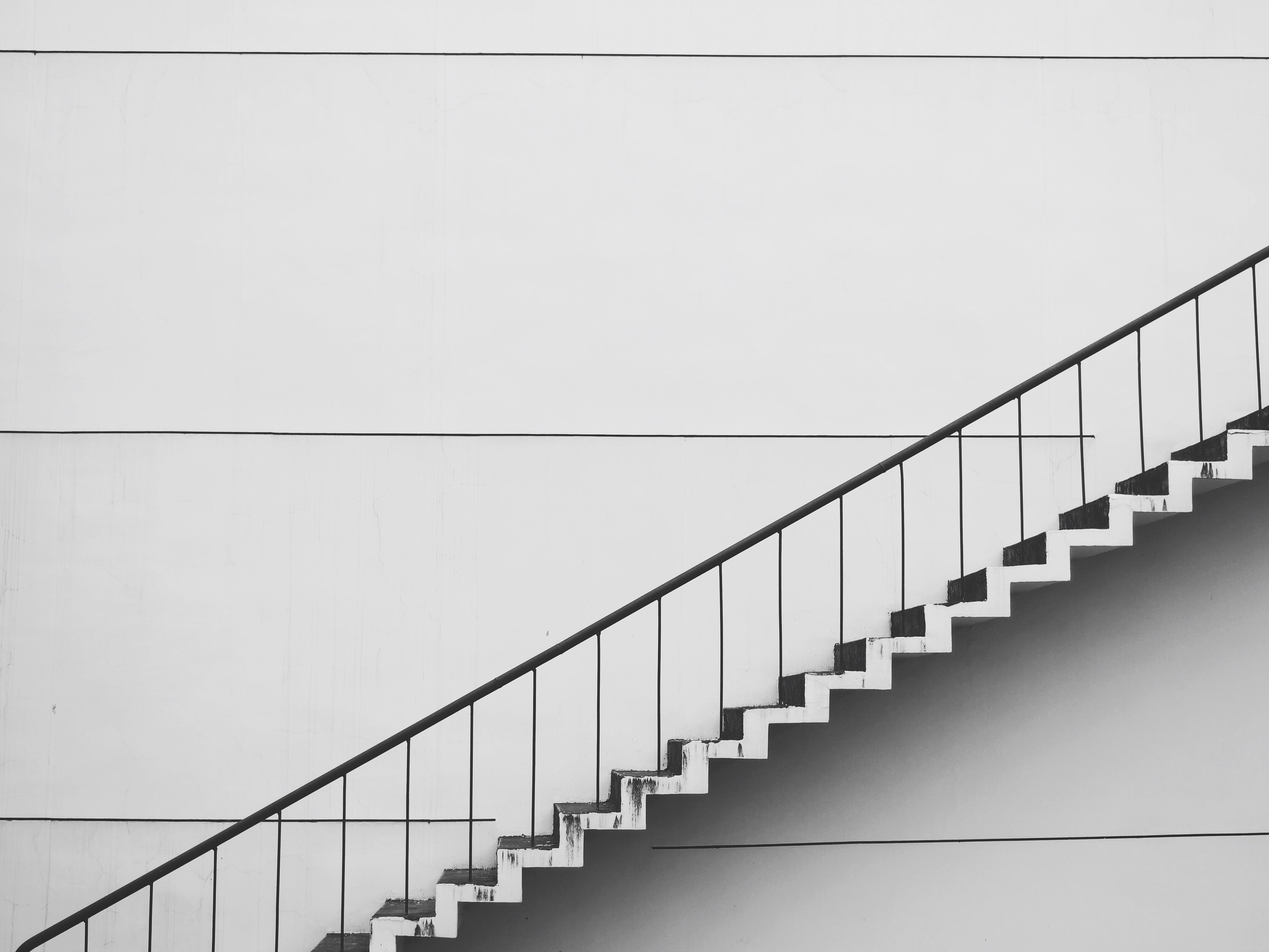 White Stairs Wallpaper
