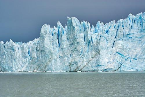 Scenery of rocky glacier in winter